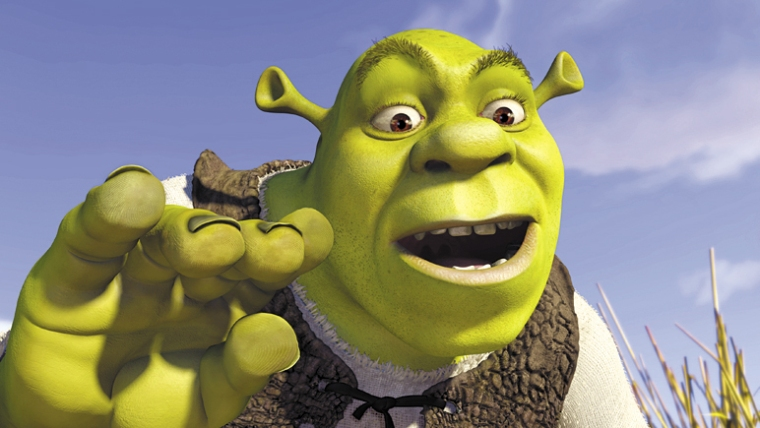 "Mike Myers as Shrek in ""Shrek"""